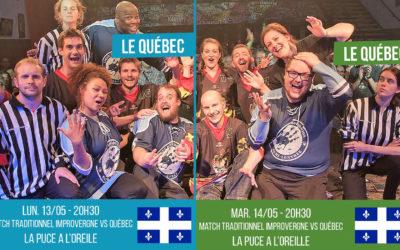 Attention événement :  le Québec puis la Réunion sur scène en Mai avec Improvergne