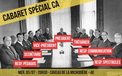 Cabaret spécial Conseil d'Administration